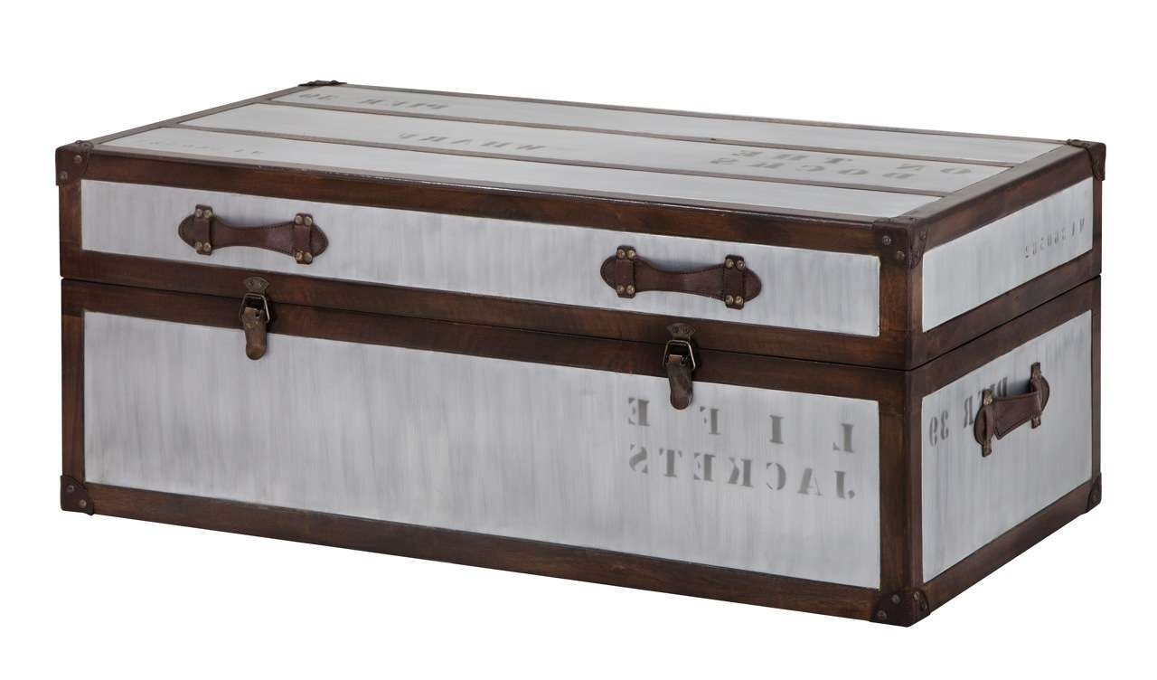Most Recently Released Silver Trunk Coffee Tables Throughout Furniture. Coffee Table Trunk Design Inspiration (View 9 of 20)