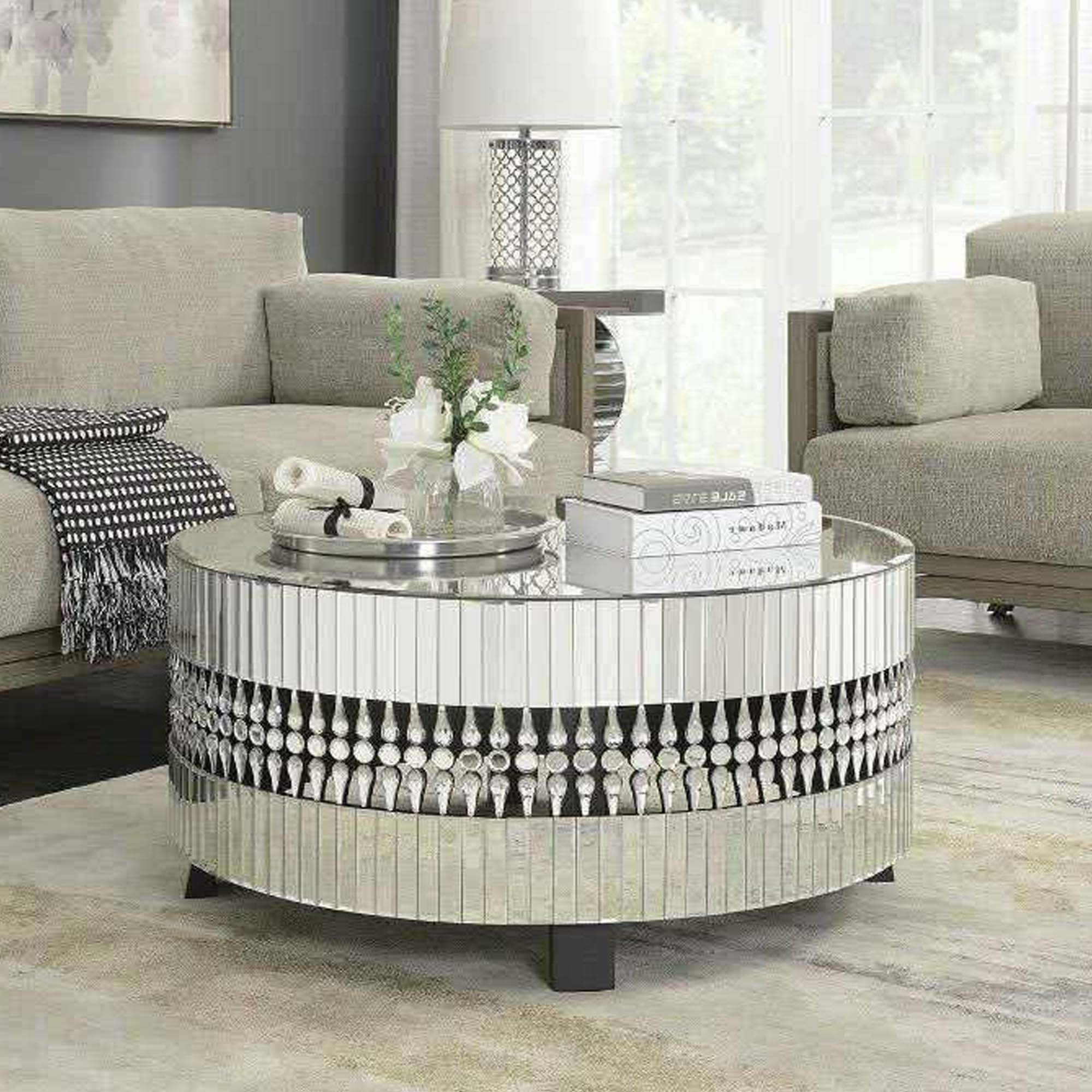 Most Recently Released Small Mirrored Coffee Tables Pertaining To Coffee Tables : Crystal Mirrored Coffee Table White Marble Sale (View 11 of 20)