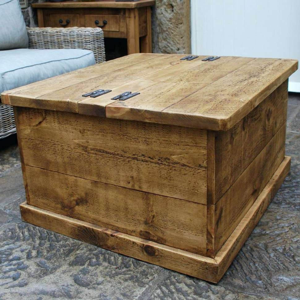 Most Recently Released Square Chest Coffee Tables Regarding Living Room : Square Trunk Coffee Table Small Round Coffee Table (View 8 of 20)