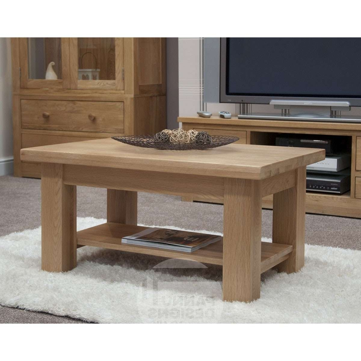 Most Recently Released Torino Coffee Tables Intended For Torino Oak 3 X 2 Coffee Table (View 10 of 20)