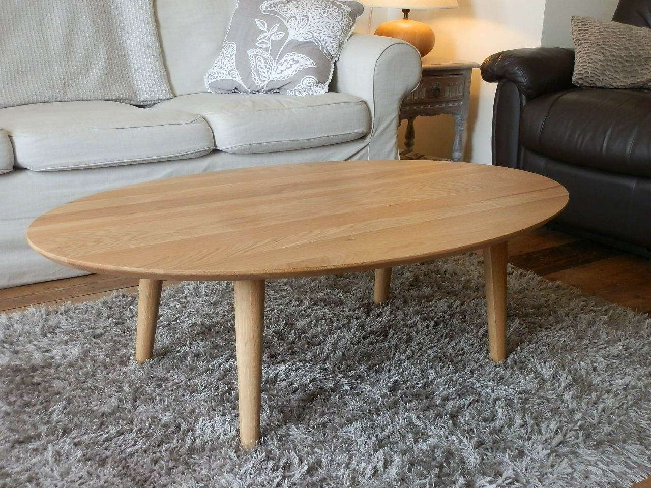 Most Recently Released White And Oak Coffee Tables Pertaining To Oak Oval Coffee Table White — The Home Redesign : What Kind Of (View 12 of 20)