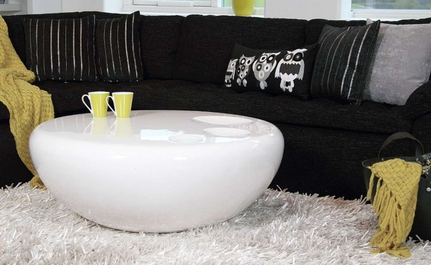 Most Recently Released White Circle Coffee Tables Inside Table : White Round Coffee Table Modern Craftsman Compact The Most (View 13 of 20)