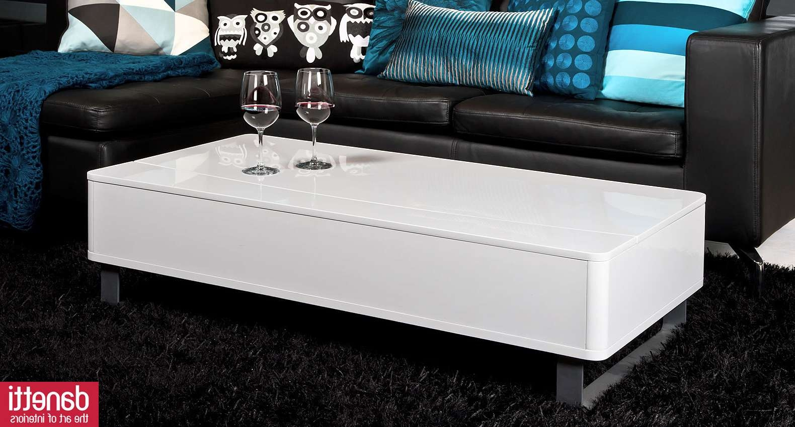 Most Recently Released White Coffee Tables With Storage Pertaining To Modern White Coffee Table With Storage (View 14 of 20)