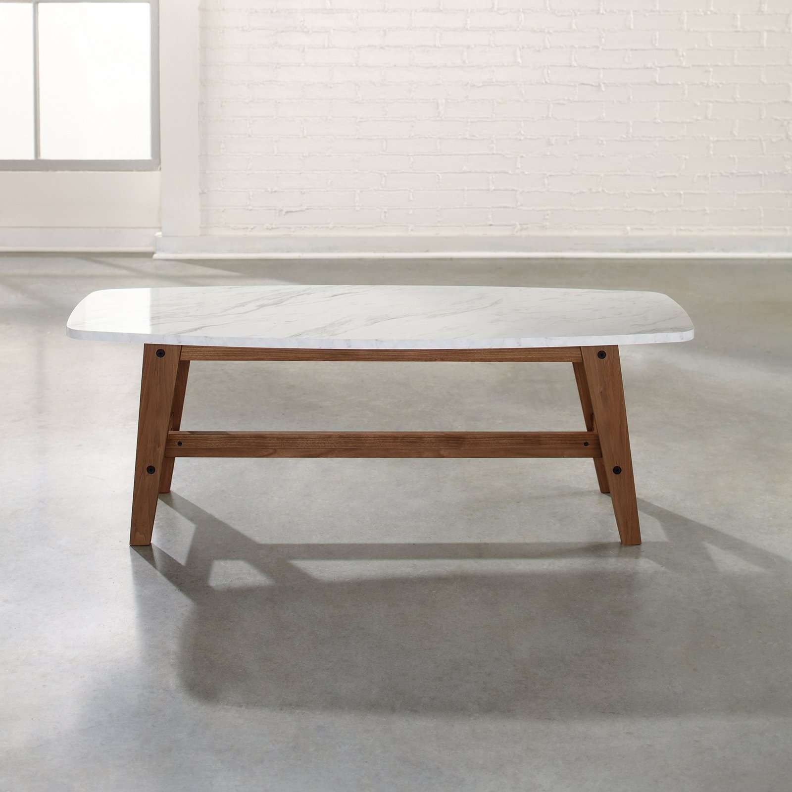 Most Recently Released White Marble Coffee Tables Regarding Coffee Tables : Round Marble Top Coffee Table Square Faux White (View 14 of 20)