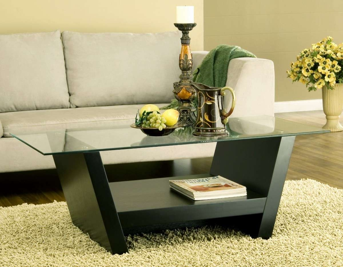 Most Up To Date Black Wood And Glass Coffee Tables Inside Glass Coffee Tables: Amazing Wooden Coffee Table Designs With (View 9 of 20)