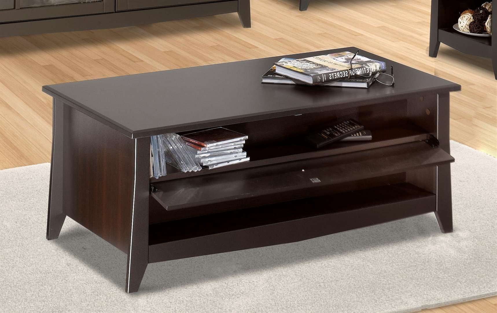 Most Up To Date Cd Storage Coffee Tables Pertaining Nexera Elegance Table N 200717