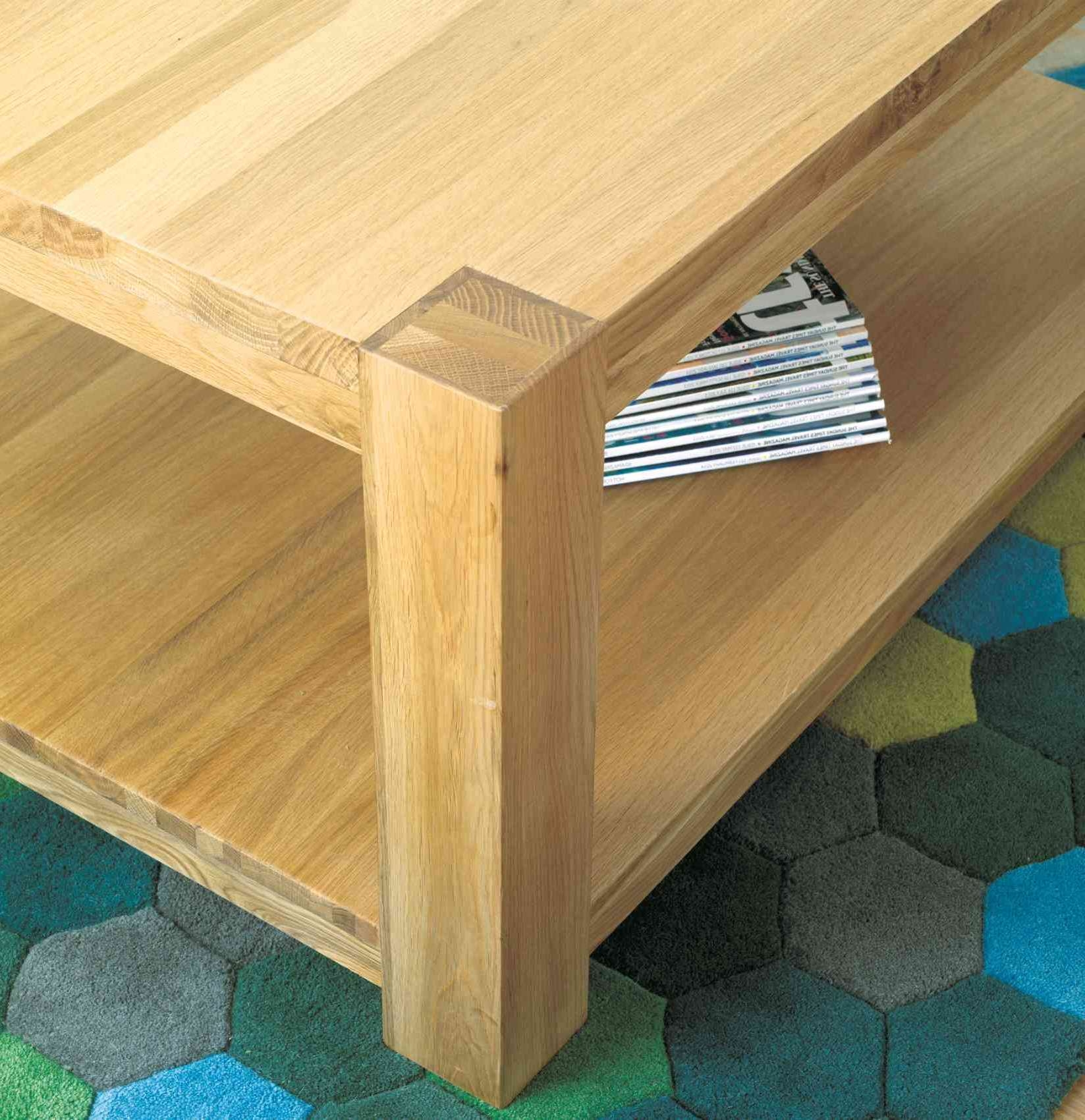 Most Up To Date Chunky Oak Coffee Tables Regarding Modern Chunky Oak Coffee Table Large (View 13 of 20)