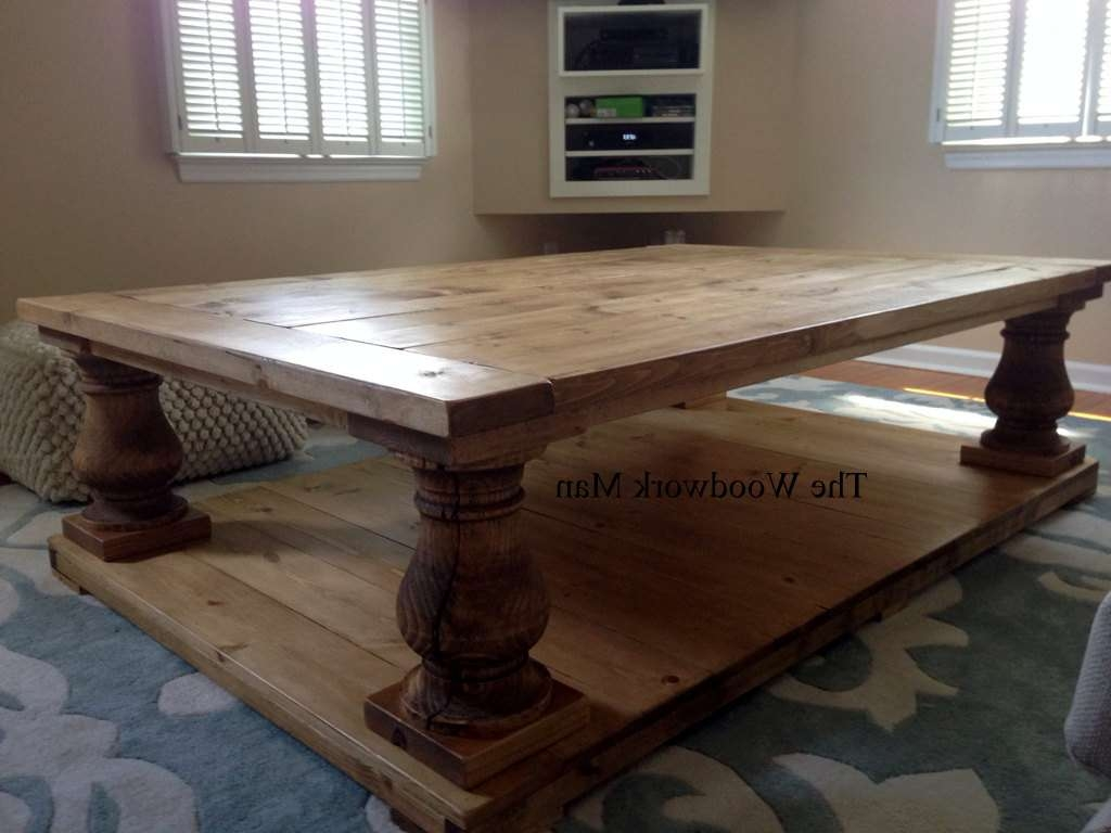 Most Up To Date Chunky Wood Coffee Tables Inside 60x40x19 Canyon Brown Salvage Wood Finish Balustrade Coffee (View 14 of 20)