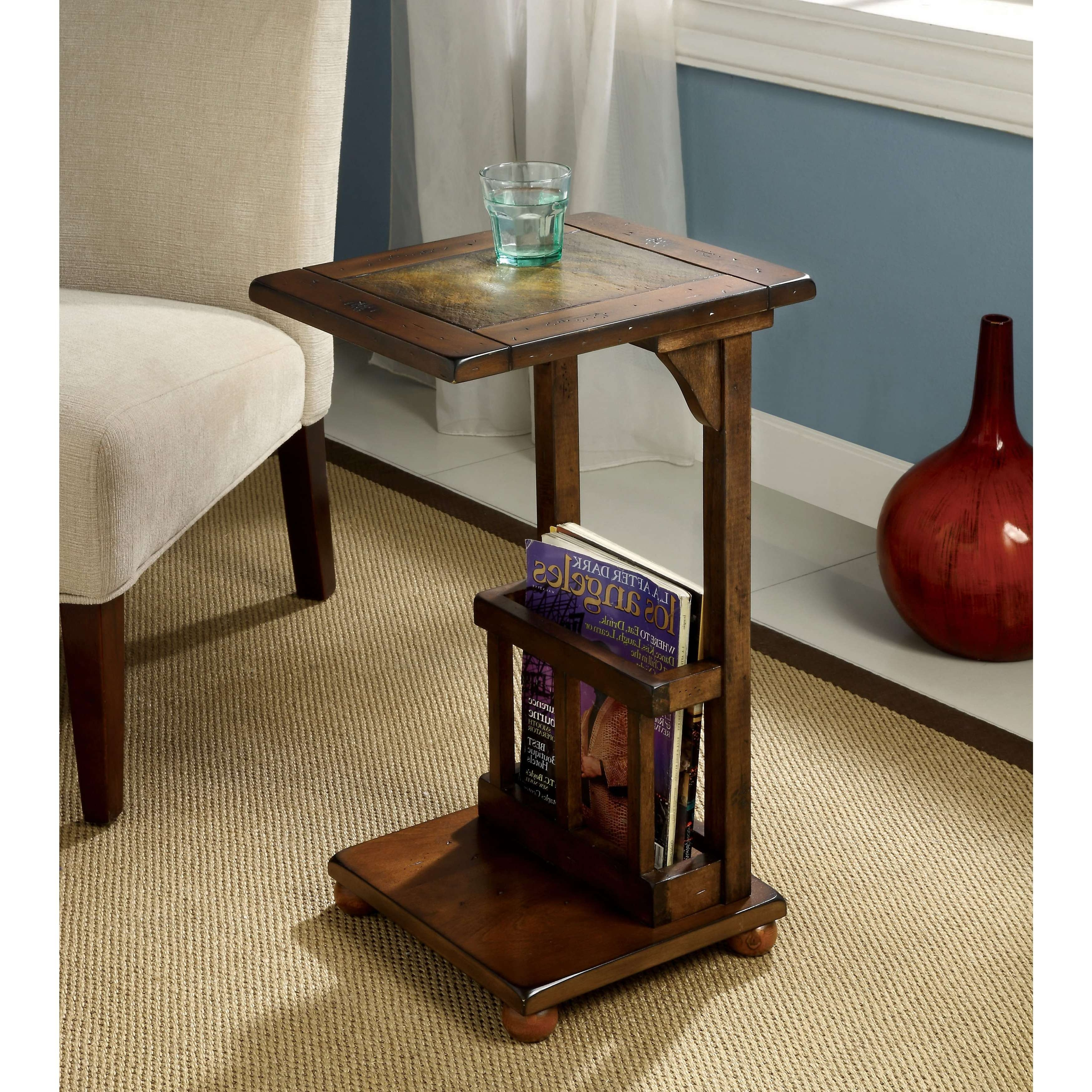 Most Up To Date Coffee Tables With Magazine Rack With Furniture Of America Slimming Sissy Magazine Rack End Table – Free (View 8 of 20)