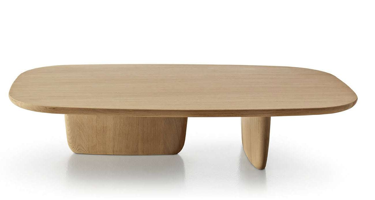 Most Up To Date Contemporary Oak Coffee Table Inside Contemporary Coffee Table / Oak / Oval /edward Barber & Jay (View 3 of 20)