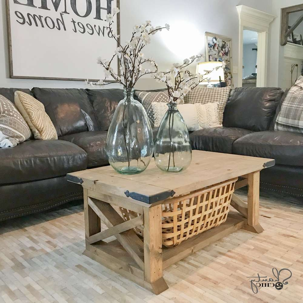 Most Up To Date Farmhouse Coffee Tables Pertaining To Diy 8 Board Farmhouse Coffee Table – Shanty 2 Chic (View 6 of 20)