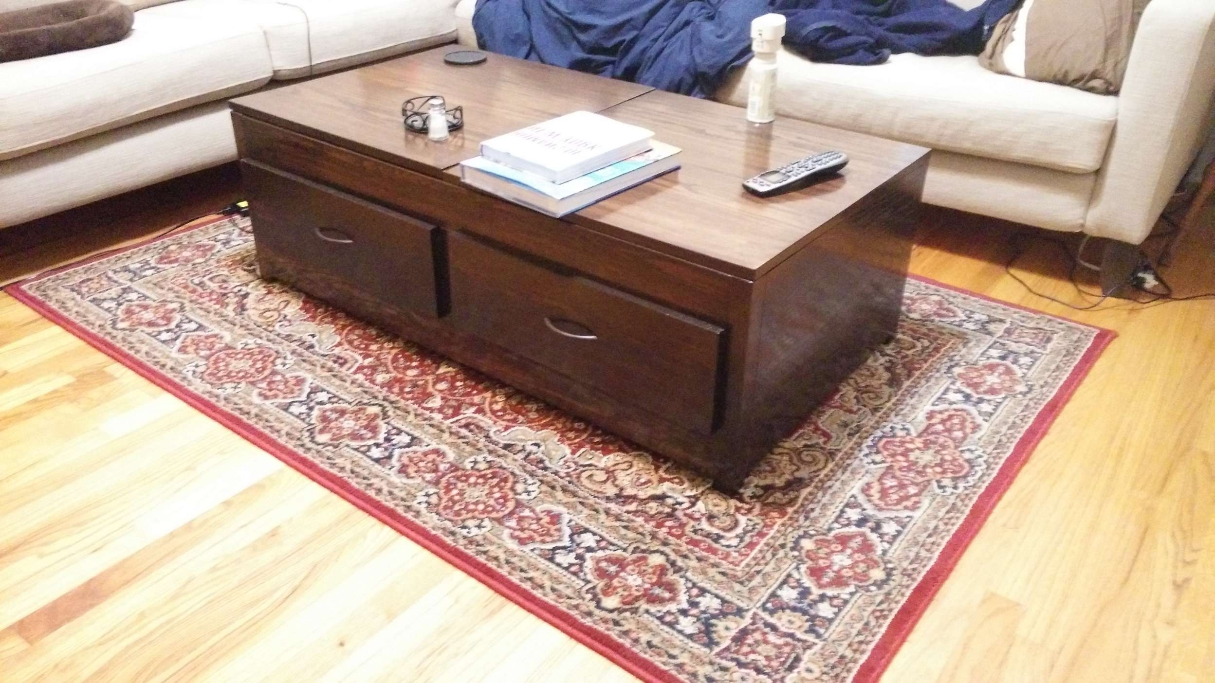 Most Up To Date Flip Up Coffee Tables Regarding Ana White (View 12 of 20)