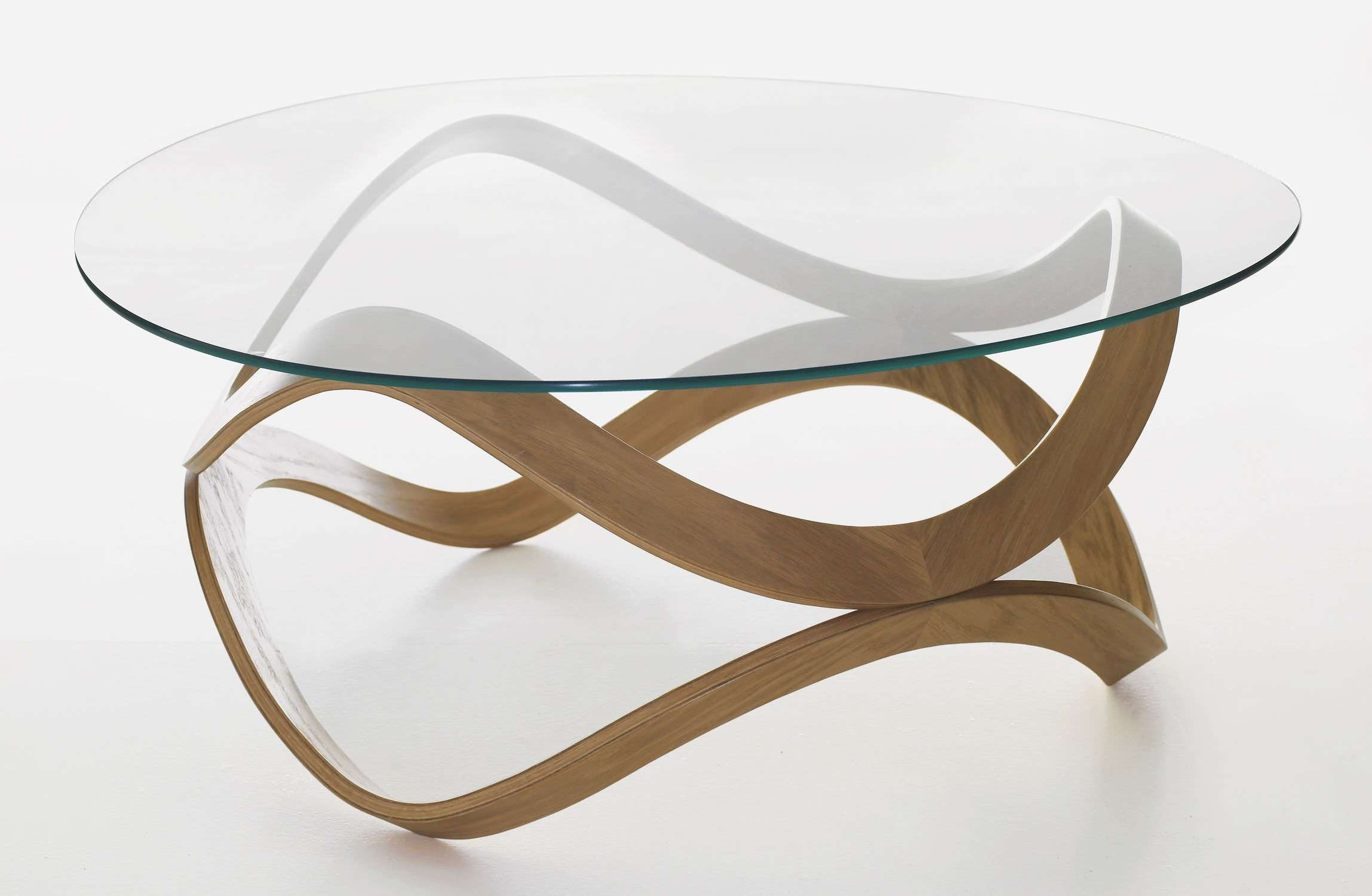 Most Up To Date Glass And Oak Coffee Tables For Contemporary Coffee Table / Glass / Oak / Ash – Newtond (View 16 of 20)