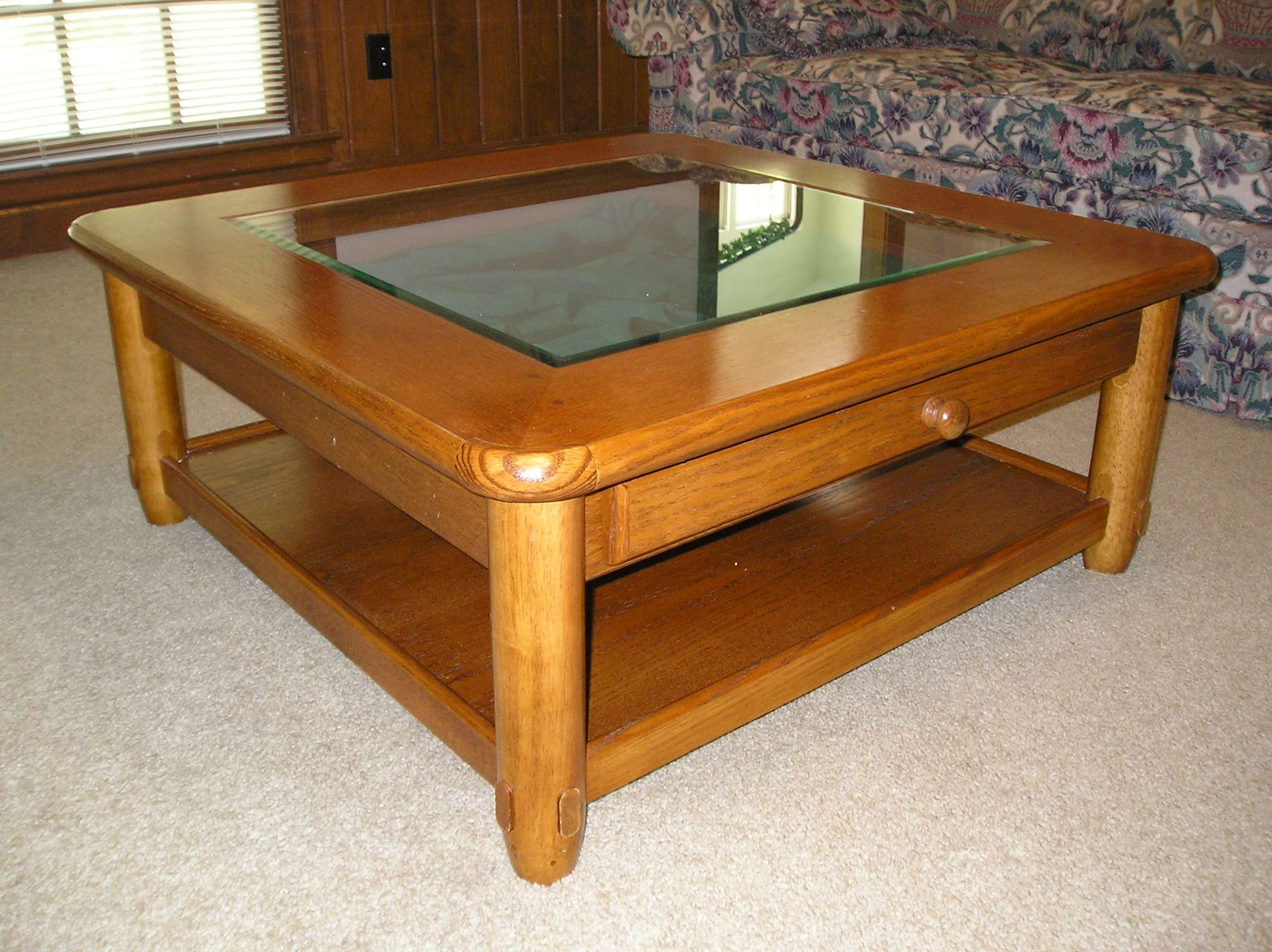 Most Up To Date Glass Oak Coffee Tables Throughout Oak Coffee Table With Glass Top – Oak Coffee Table, Clear Glass (View 12 of 20)