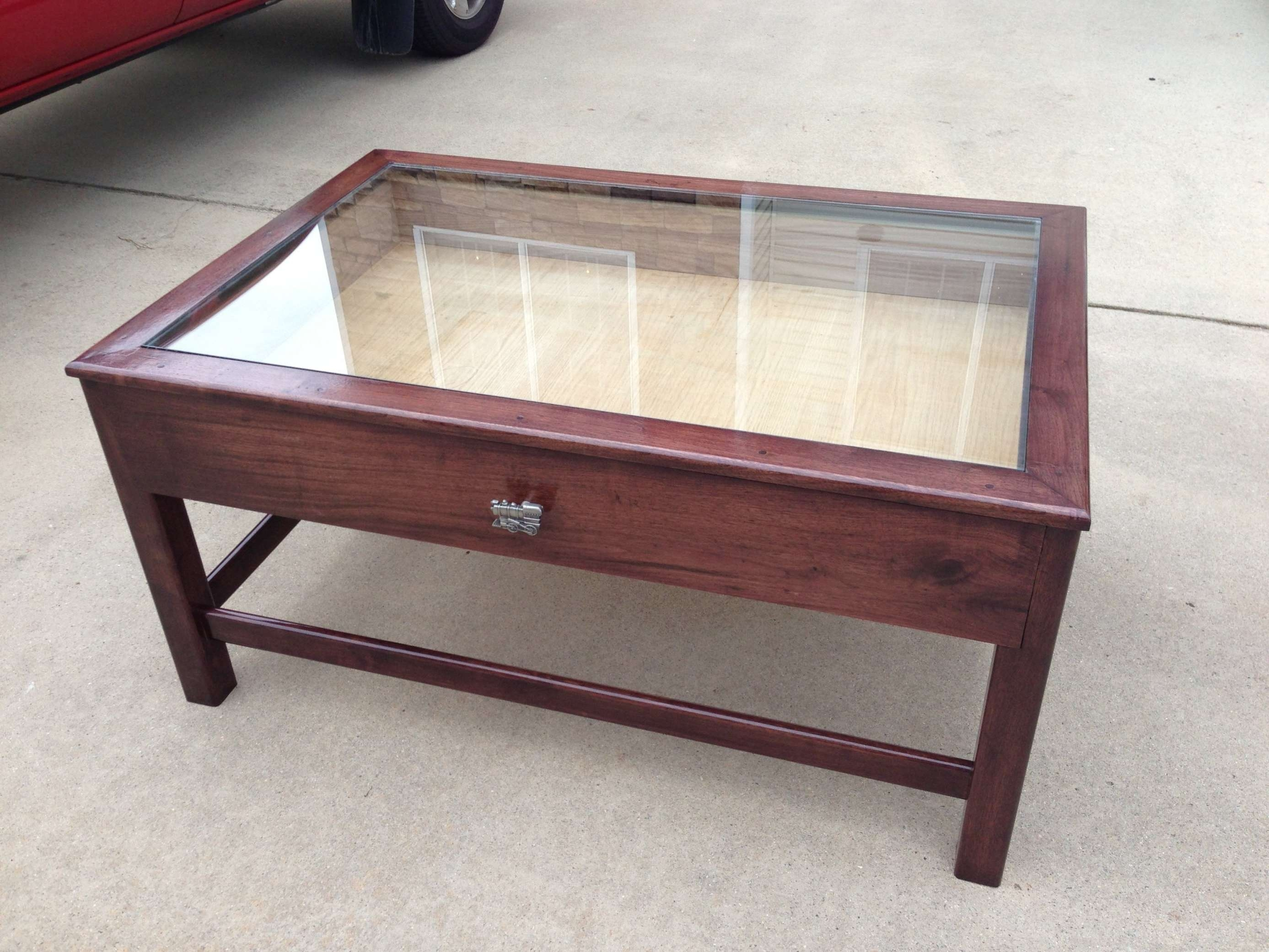 Most Up To Date Glass Top Display Coffee Tables With Drawers Inside Coffee Table: Marvelous Glass Top Display Coffee Table Ideas For (View 5 of 20)
