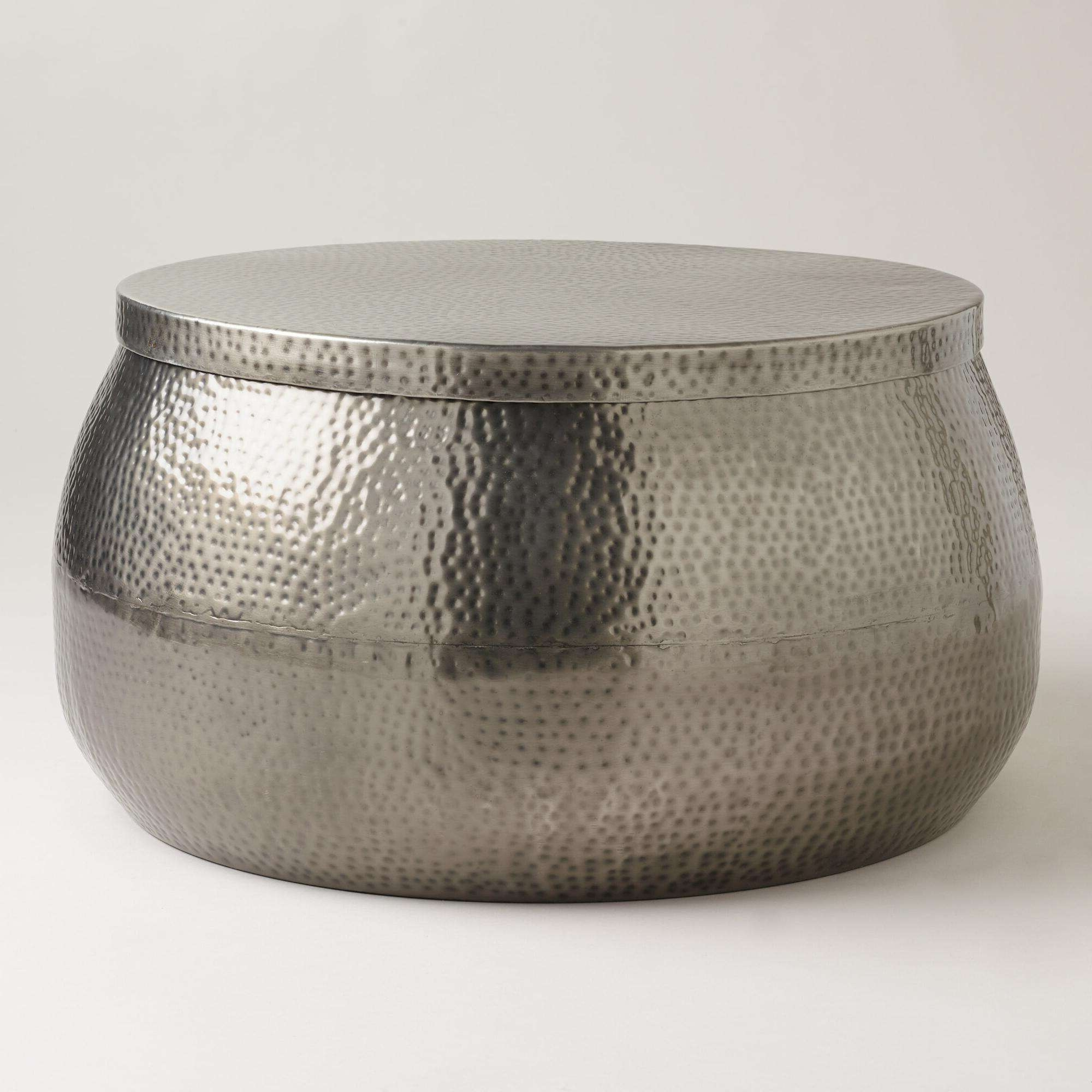 Most Up To Date Hammered Silver Coffee Tables Within Coffee Tables : Silver Coffee Tables Elegant Organizing Small (View 4 of 20)