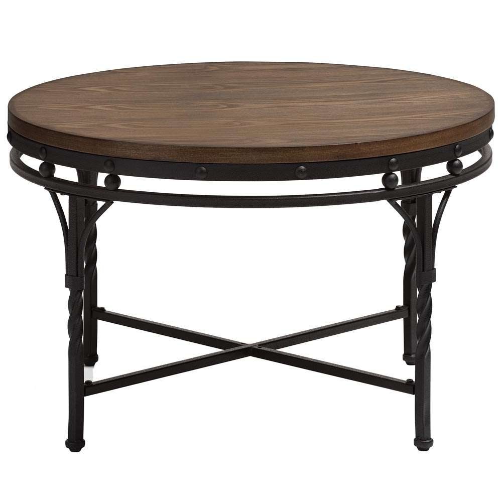 Most Up To Date Industrial Round Coffee Tables With Regard To Industrial Round Coffee Table In Coffee Tables (View 14 of 20)