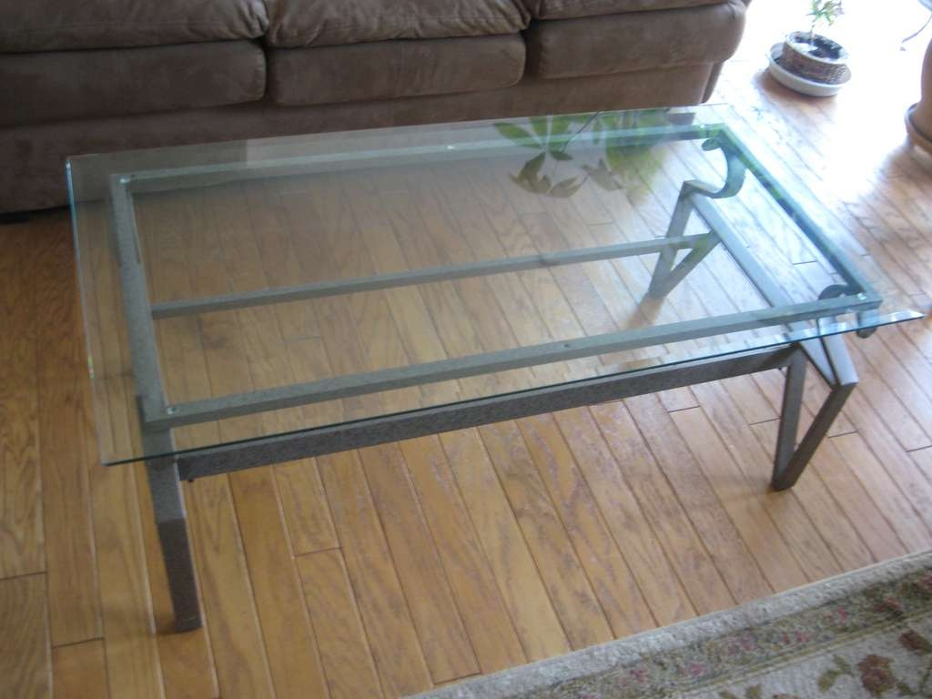 Most Up To Date Iron Glass Coffee Table Within Iron And Glass Coffee Table Cost — All Furniture : Wrought Iron (View 8 of 20)