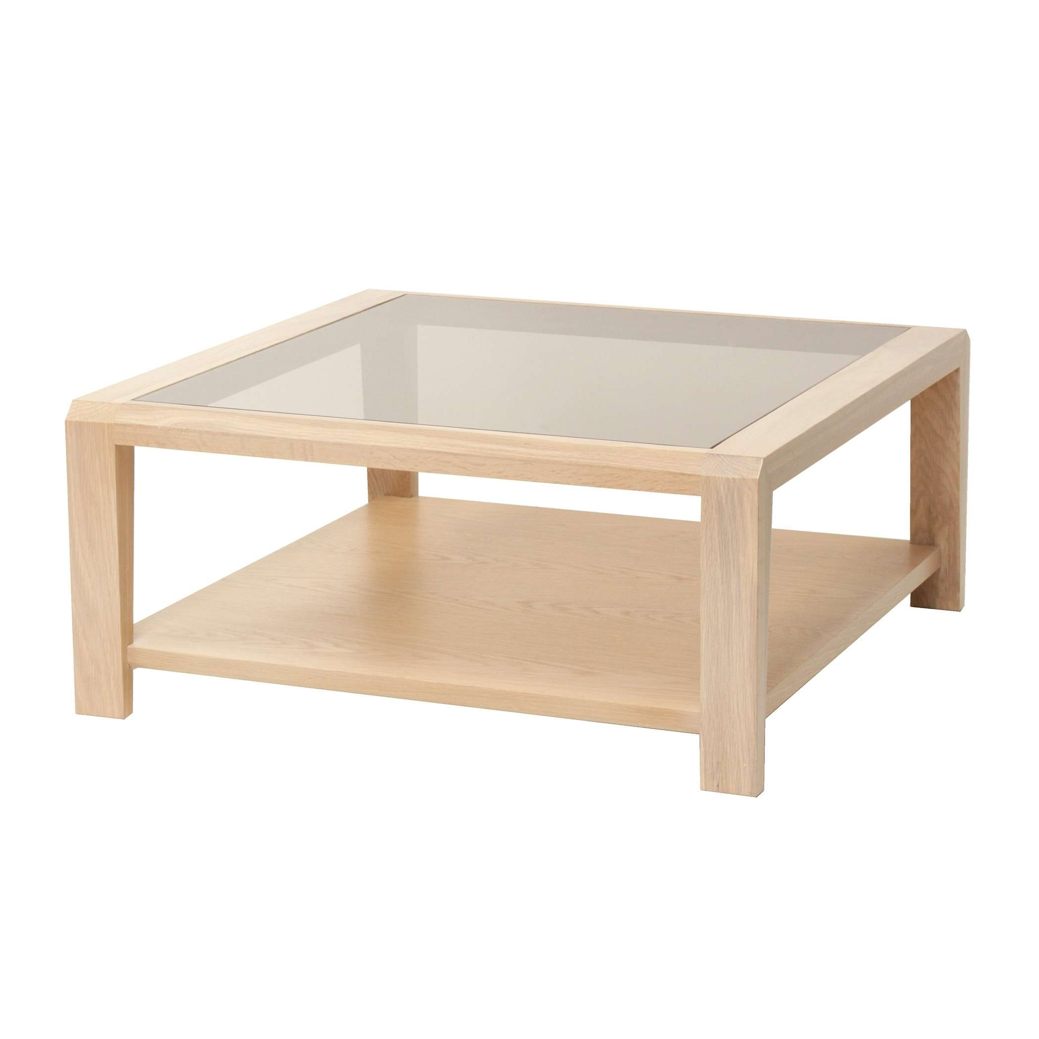 Most Up To Date Large Square Oak Coffee Tables Intended For Large Square Glass Coffee Table – Glass Coffee Table (View 9 of 20)