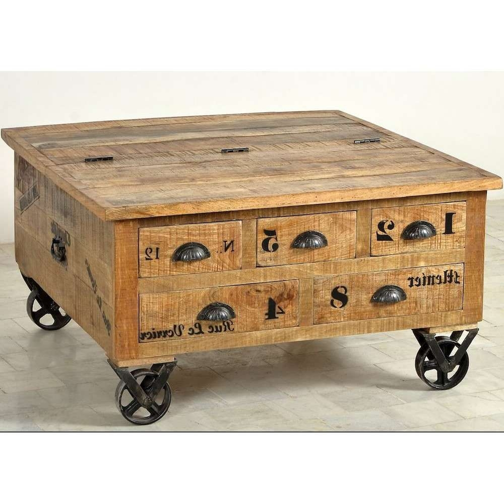 Most Up To Date Large Trunk Coffee Tables Inside Coffee Table : Dark Wood Coffee Table Chest Vintage Wooden Trunk (View 7 of 20)