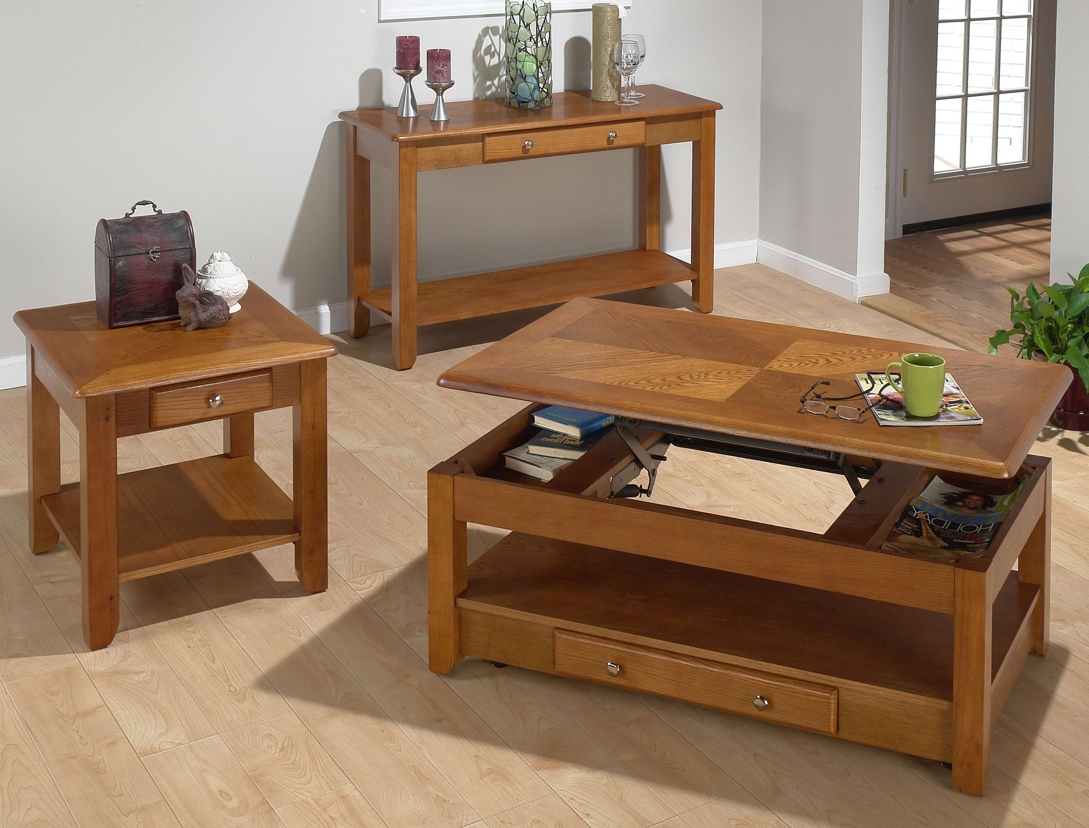Most Up To Date Lift Top Oak Coffee Tables Within Jofran Sedona Oak Lift Top Cocktail Table 480 (View 4 of 20)