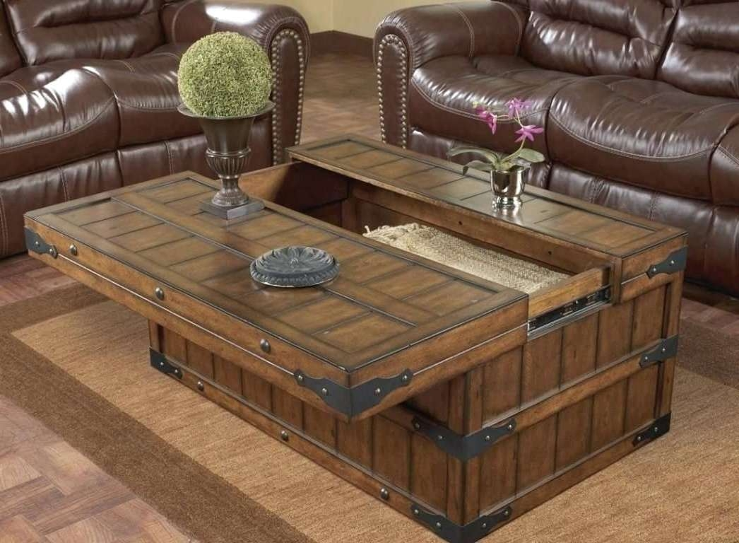 Most Up To Date Oak Coffee Table With Storage Intended For Large Oak Coffee Tables With Storage Images Table Design Ideas (View 10 of 20)