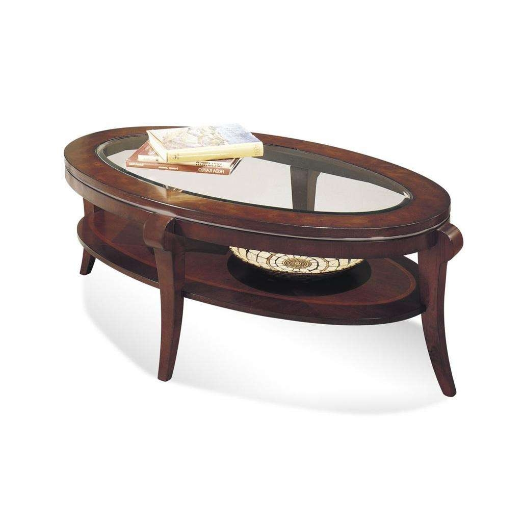 Most Up To Date Oval Mirrored Coffee Tables In Bassett Mirror 8436 140Ec  Ashland Heights Oval