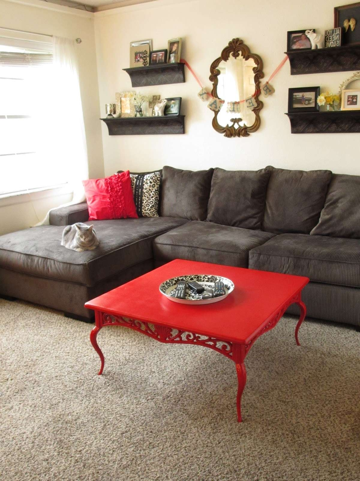Most Up To Date Red Coffee Tables With Regard To How To Decorate A Living Room With A Red Coffee Table — The Home (View 11 of 20)