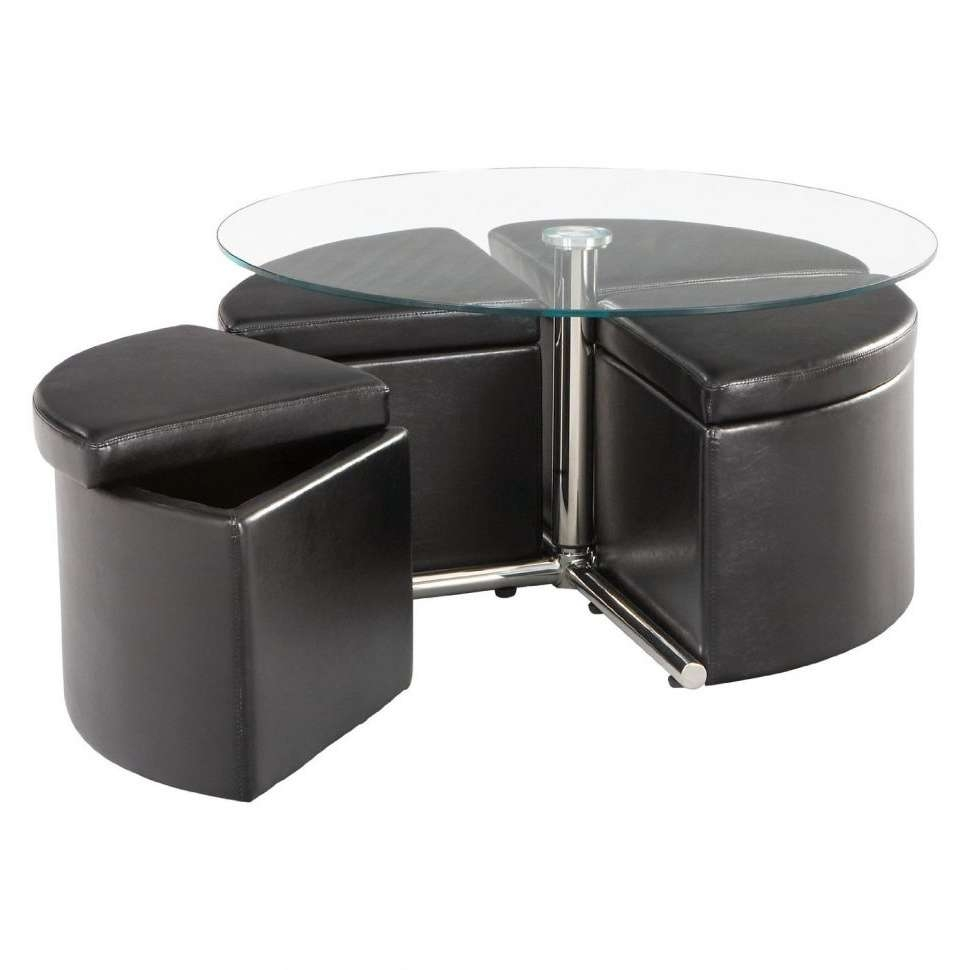 Most Up To Date Round Pine Coffee Tables Regarding Coffee Tables : Coffee Table With Stools Underneath Asian Oval Six (View 18 of 20)