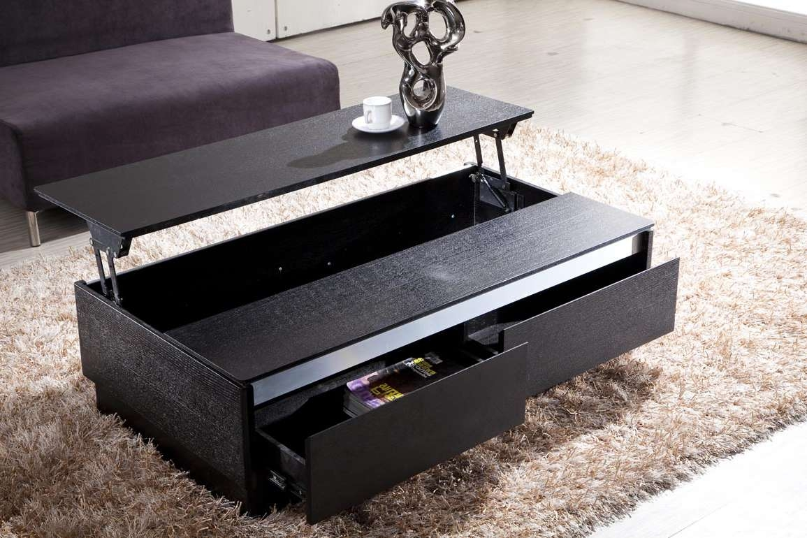 Most Up To Date Small Coffee Tables With Drawer Pertaining To Awesome Black Coffee Tables Decor Ideas – Black Coffee Tables Uk (View 12 of 20)
