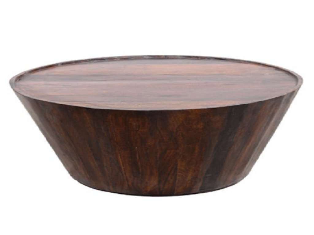 Most Up To Date Solid Round Coffee Tables In Furniture: Round Wood End Table  Luxury