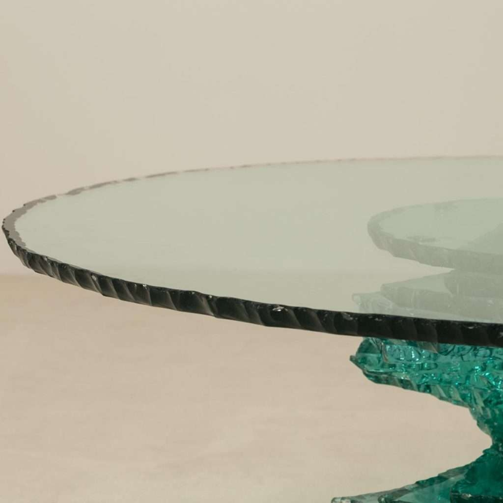 Most Up To Date Spiral Glass Coffee Table Intended For Coffee Table : Late 20Th Century Spiral Pedestal Based Glass (View 13 of 20)