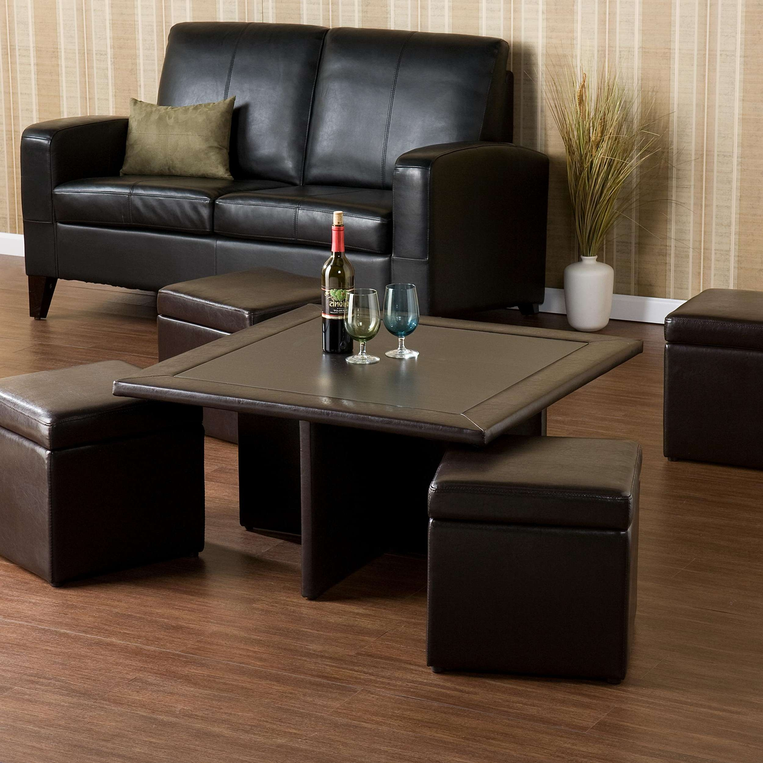 Most Up To Date Square Coffee Tables With Storage Cubes Within Coffee Tables : Square Storage Ottoman Coffee Table With Ottomans (View 10 of 20)