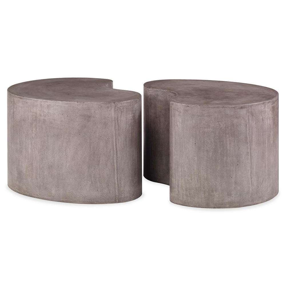 Most Up To Date Stone Coffee Table In Bray Industrial Modern Stone Outdoor Coffee Table (View 15 of 20)