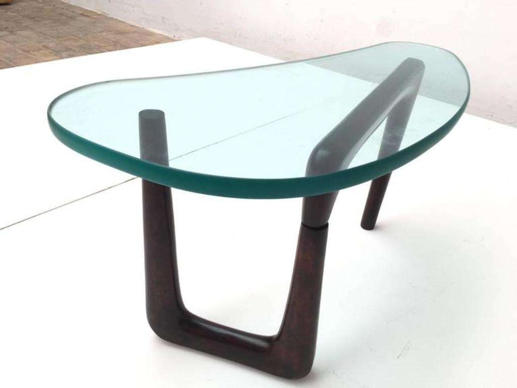 Most Up To Date Thick Glass Coffee Table Pertaining To Italian Coffee Table With Thick Glass Top, 1950S For Sale At Pamono (View 11 of 20)