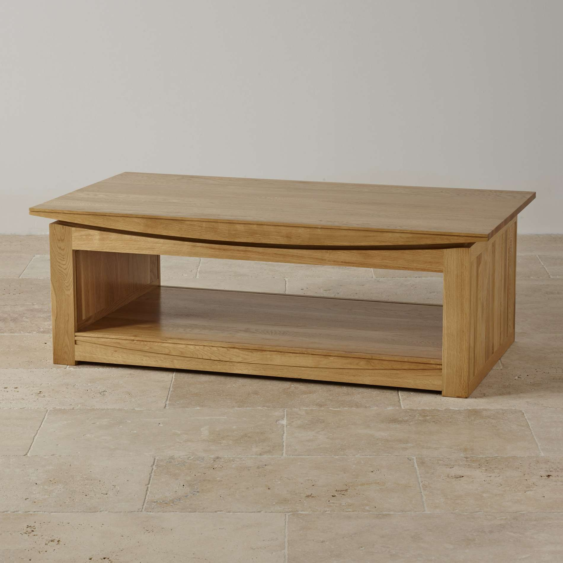Most Up To Date Tokyo Coffee Tables For Tokyo Natural Solid Oak Large Coffee Tableoak Furniture Land (View 2 of 20)
