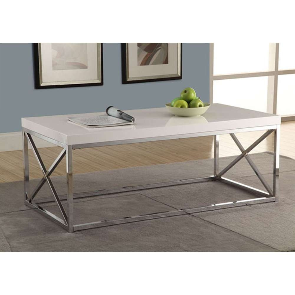 Most Up To Date White And Chrome Coffee Tables Regarding Cheap Coffee Tables Under $100 That Work For Every Style (View 12 of 20)