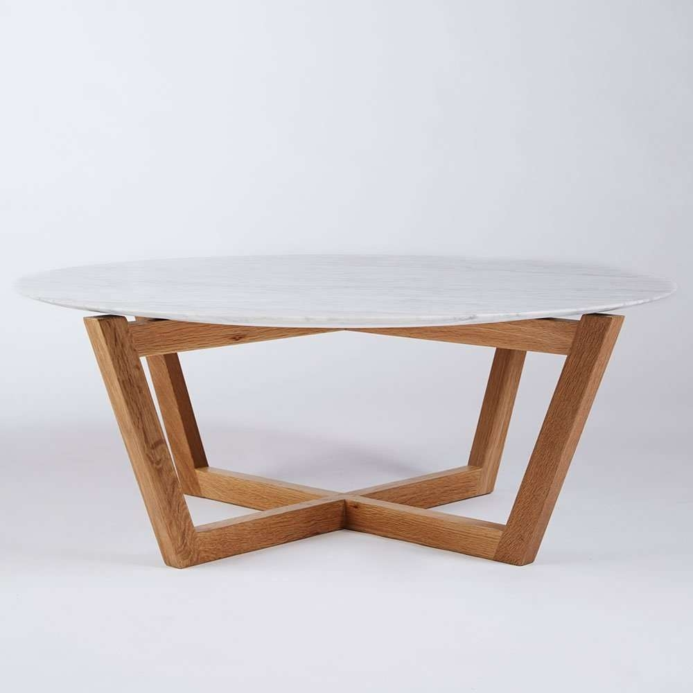 Most Up To Date White And Oak Coffee Tables Throughout Round Wood Coffee Table Rustic Good Wood Coffee Table Scandinavian (View 14 of 20)