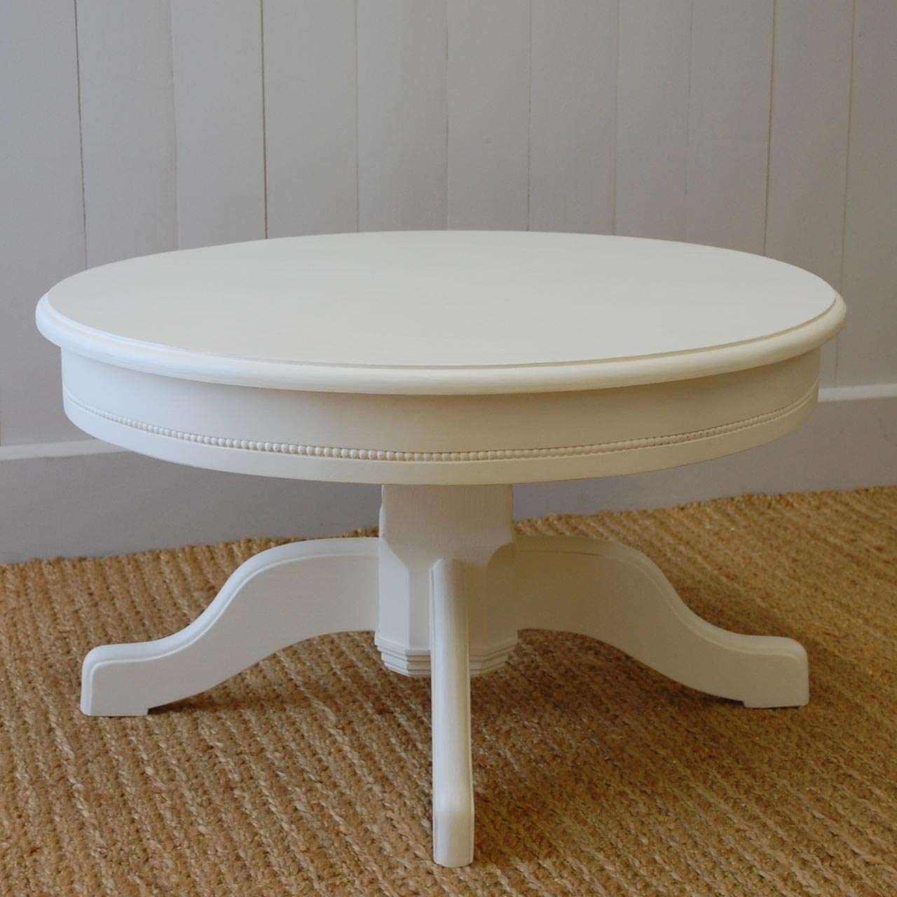 Most Up To Date White Circle Coffee Tables Pertaining To Rustic White Round Coffee Table Ideas — Rs Floral Design : How To (View 15 of 20)