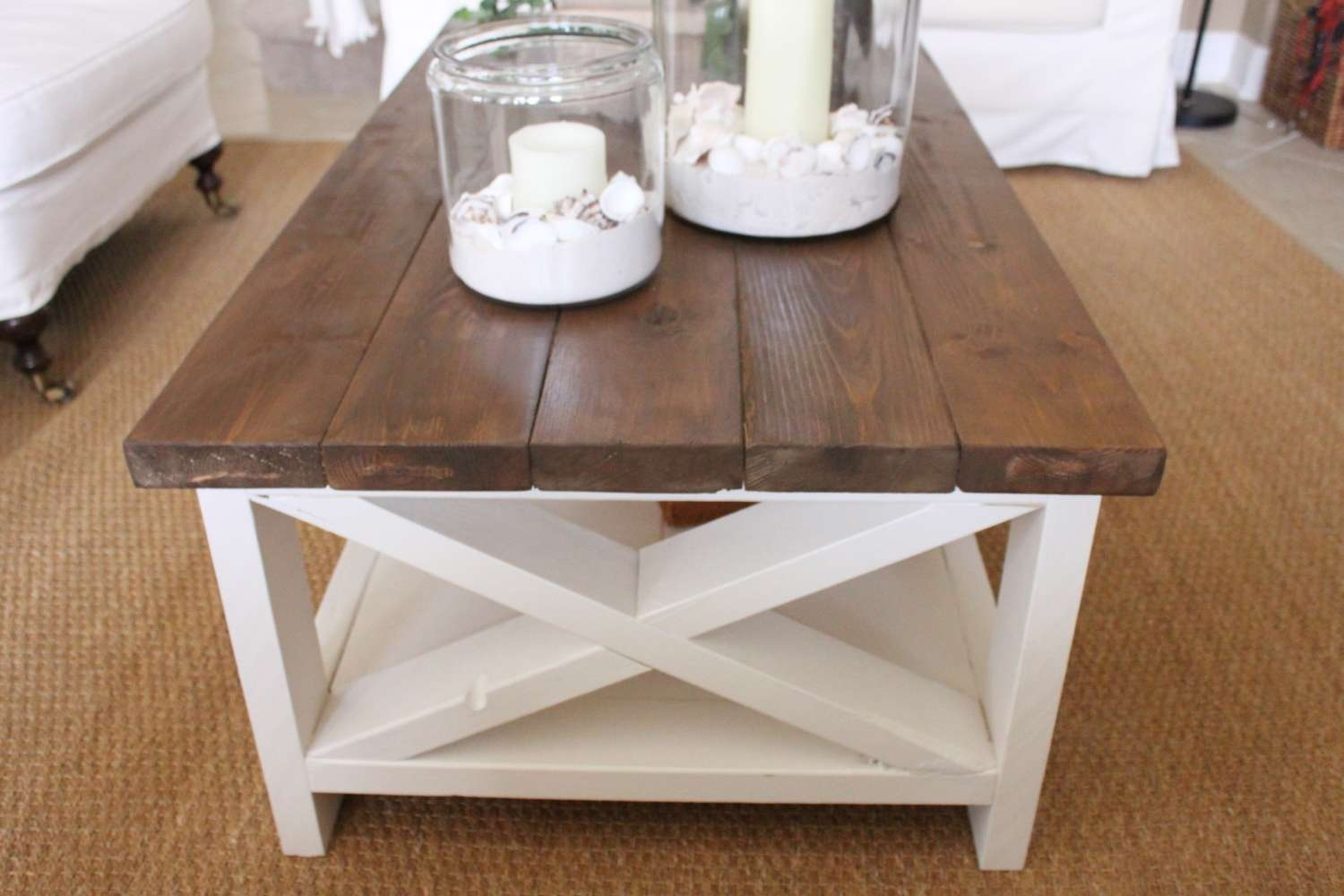 Most Up To Date White Cottage Style Coffee Tables Regarding A New Rustic Coastal Coffee Table – Starfish Cottage (View 14 of 20)