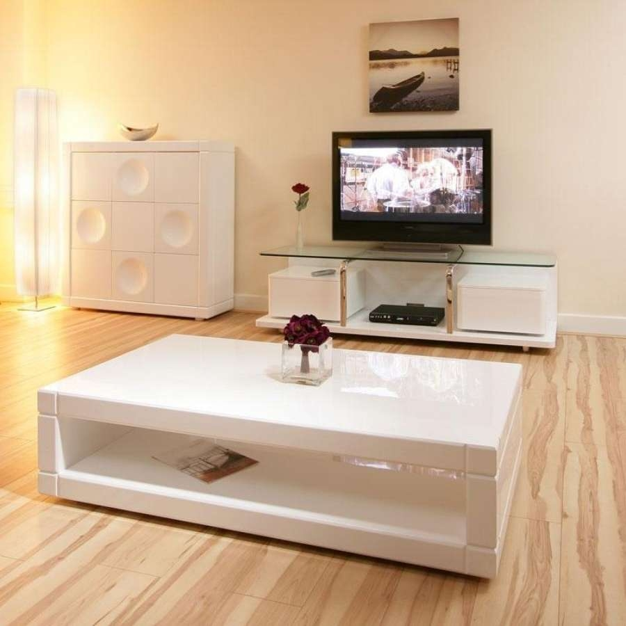 Most Up To Date White Gloss Coffee Tables Inside Furniture Appealing White Gloss Coffee Table Design Ideas Full Hd (View 18 of 20)