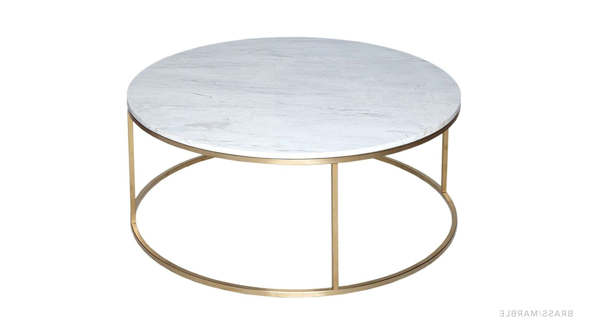 Most Up To Date White Marble Coffee Tables Inside Coffee Tables : Brass Coffee Table Small Marble Side Round Real (View 15 of 20)