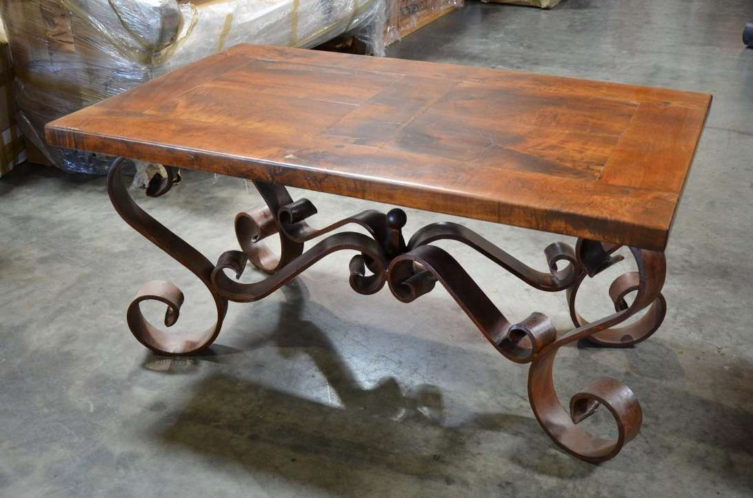 Most Up To Date Wrought Iron Coffee Tables Within Rare Wood And Metal Coffeeable Image Ideasables Amazing Wrought (View 10 of 20)