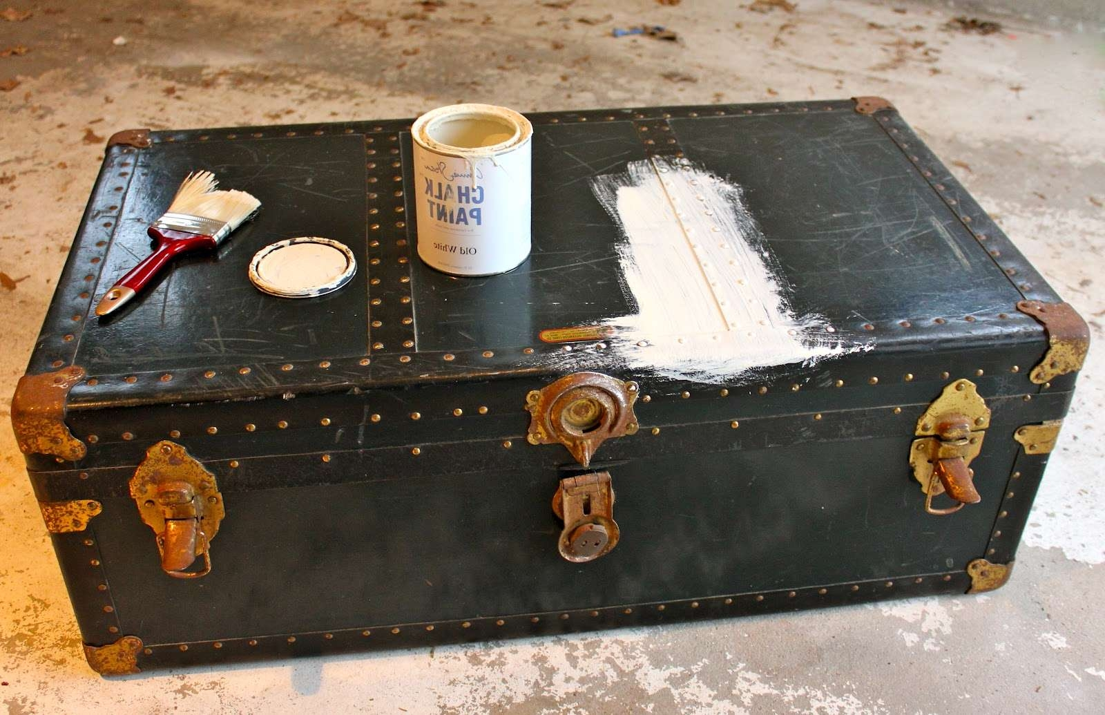 My Passion For Decor: Neglected Steamer Trunk Makeover For Most Recent Old Trunks As Coffee Tables (View 13 of 20)