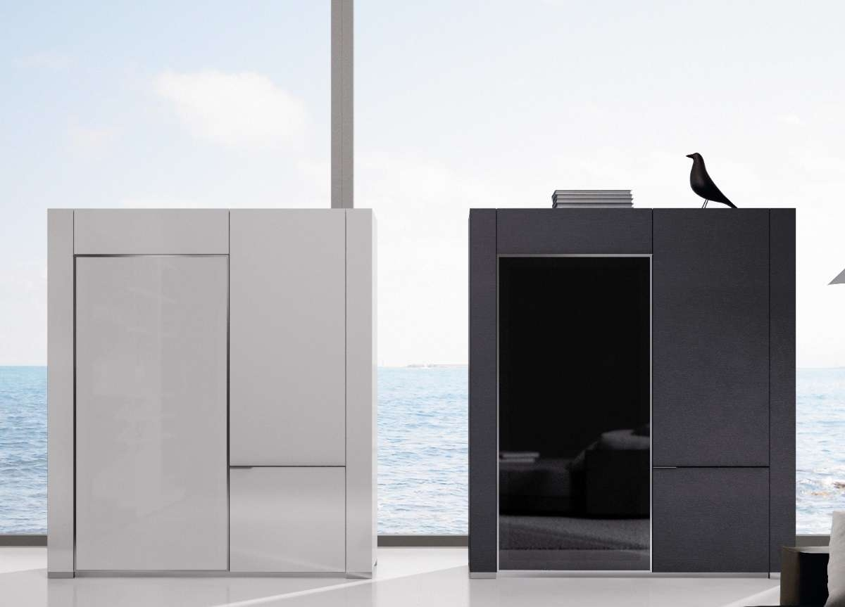 Nagare Tall Sideboard   Contemporary Furniture   Modern Sideboards Intended For Tall Sideboards (View 6 of 20)