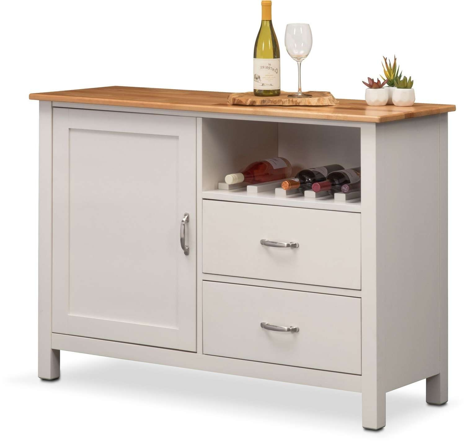 Nantucket Sideboard – Maple And White | Value City Furniture And Inside Maple Sideboards (View 10 of 20)