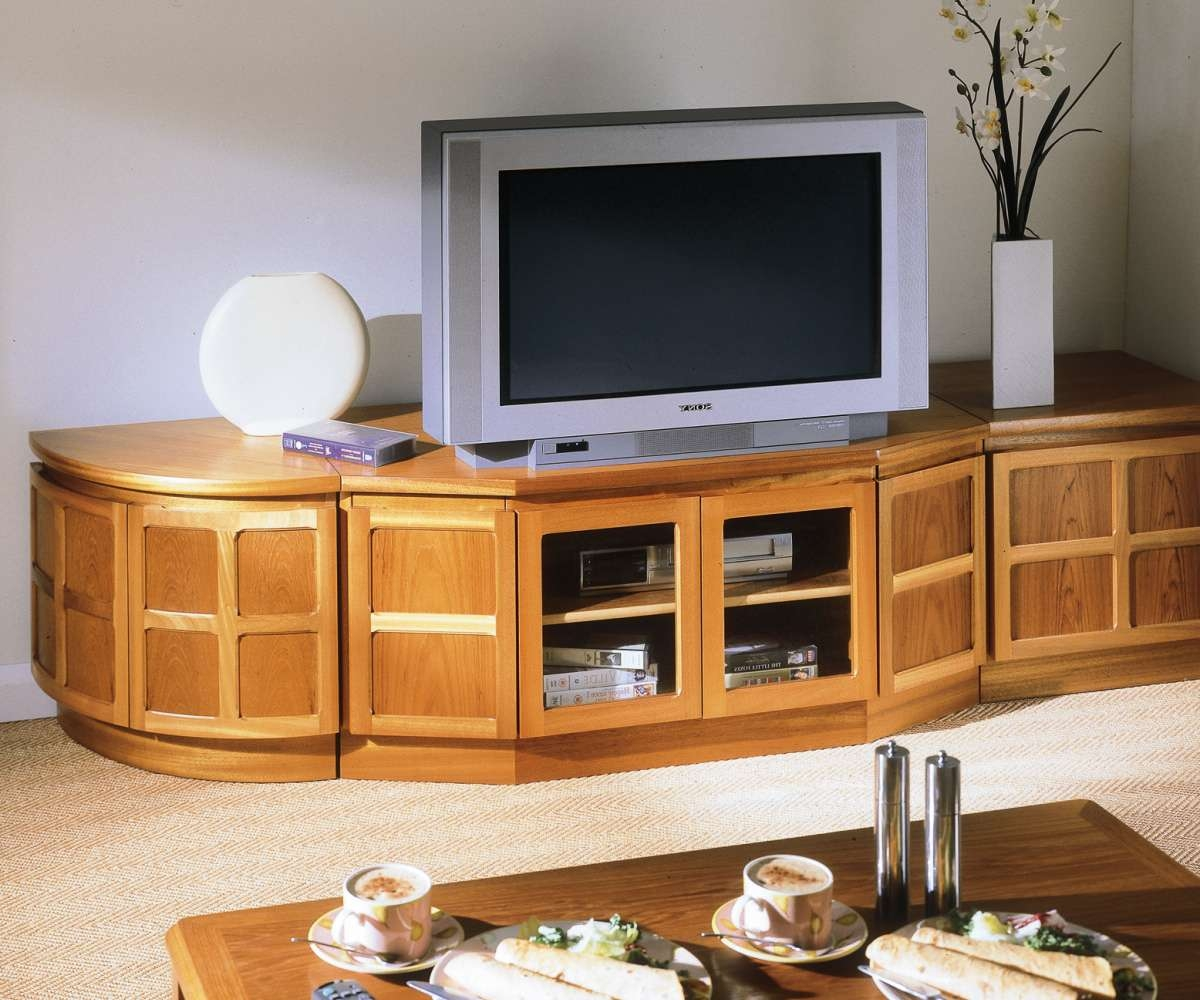 Nathan Classic Teak 5254 Corner Tv Cabinet – Audio Tv Units | Rg For Low Corner Tv Cabinets (View 13 of 20)