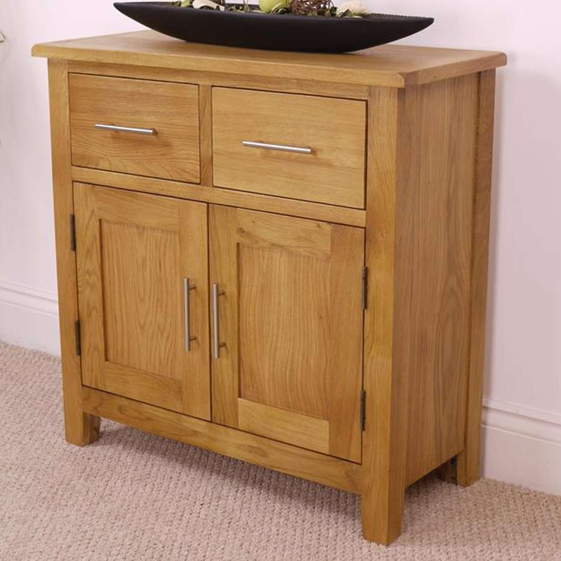 Nebraska Oak Sideboard / Solid Wood Small 2 Door 2 Drawer Storage Inside Solid Oak Sideboards (View 11 of 20)