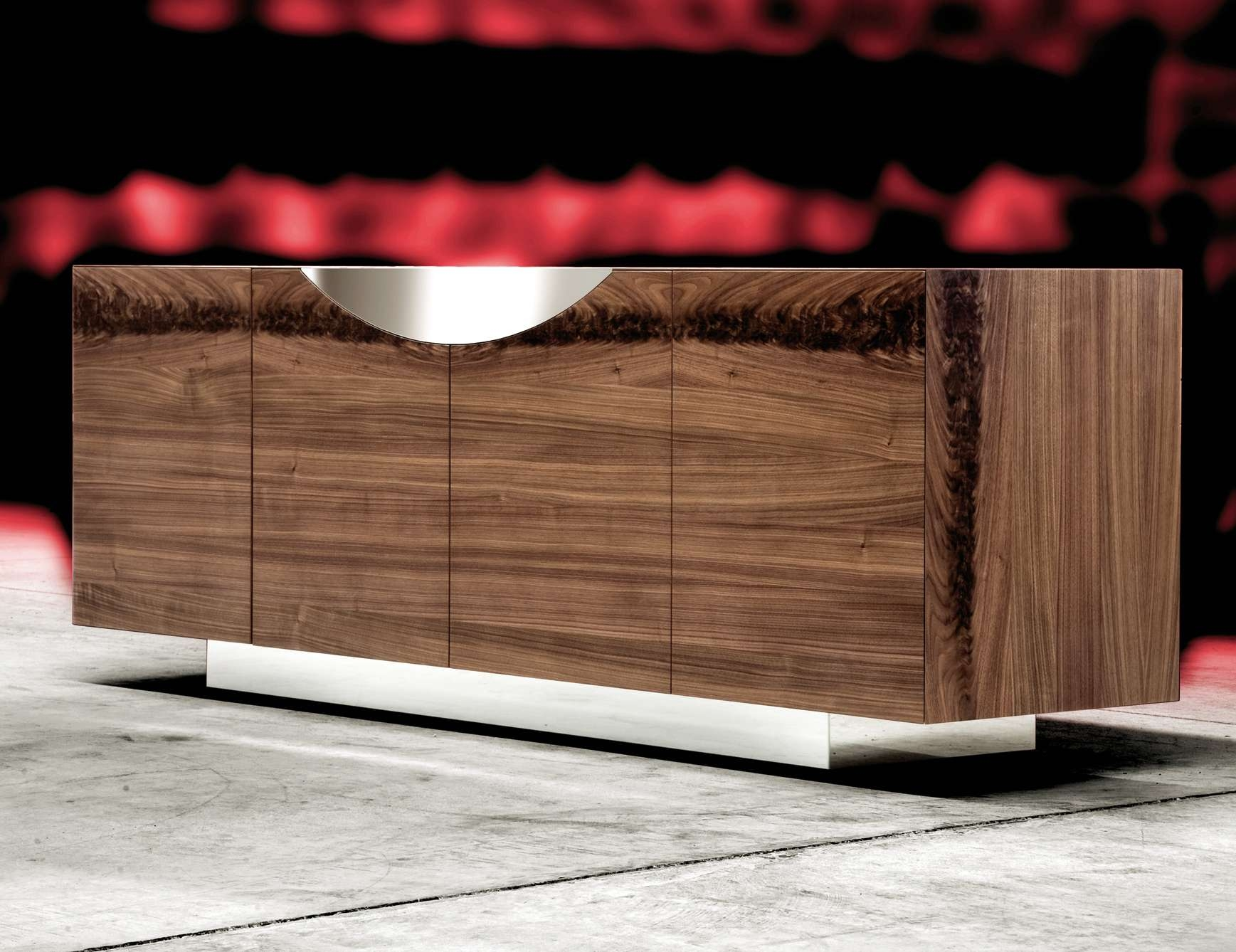 Nella Vetrina Costantini Pietro Edge 9232 Modern Walnut Sideboard Pertaining To Eclectic Sideboards (View 13 of 20)
