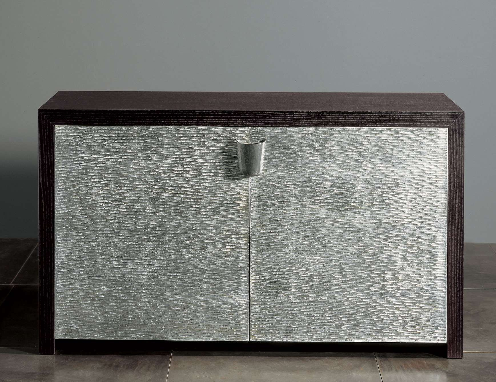 Nella Vetrina Rugiano Shiroma 6027 Wenge Silver Sideboard Intended For Black And Silver Sideboards (View 14 of 20)
